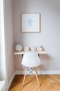 Home Decoration - Before & After: See Which Colour Katy Painted Her Bedroom - Apocalypse Now And Then Study Room Decor, Office Wall Decor, Entryway Decor, Office Desk, Home Bedroom, Bedroom Decor, Bedroom Apartment, Home Office Design, Home Office Furniture