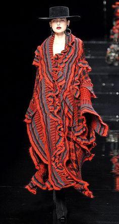 Kenzo knitwear, Fall 2007. #dancefashion Runway promotional image