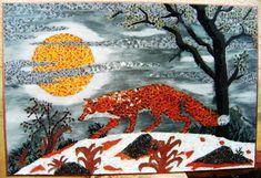 Tableau La lune et le renard   MARIANNE MINUZZI