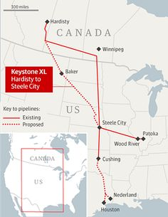 "Keystone XL map - whatever way one looks at this project it is clear the huge environmental & human rights effects were never really considered! Typical of big business it was all about ""take it now"" with very little thought given to the deeper issues & long term effects. What right to adopt such a wholesale onslaught into sensitive ecosystems & to leave a legacy of ""moonscapes & poisoned ground"" for future generations. Long time coming but well done Obama."