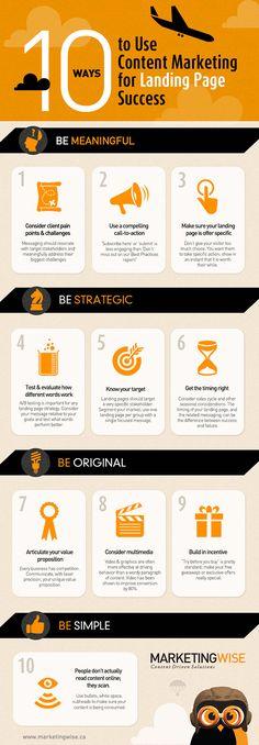 10 manieren om content marketing te gebruiken voor succesvolle landingpagina's #seo #seoservicescompanies.in
