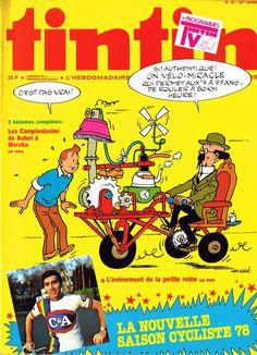 Le Journal de Tintin - Edition Belge - N°  1642 - 1978-10 - Mardi 7 Mars 1978 - Couverture : Hergé & Photo « Eddy Merckx »