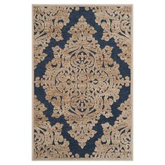 Stone/Navy Abstract Loomed Accent Rug - (2'7x4') - Safavieh, Grey/Blue