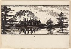 Edmund J. Sullivan The Hall, Morgan Library, Over The River, Bnf, 19th Century, Museum, African, Drawings, Illustration, Artist