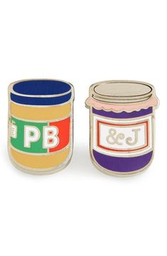PINTRILL 'PB & J' Fashion Accessory Pins (Set of 2) available at #Nordstrom