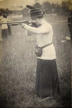 RECREATION: Harriet Hammond president of the Demours Gun Club organized the first trap shoot club for women in 1913.