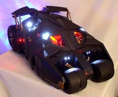 "50 Creative Custom Pc Cases Designs; you can tell that the whole ""Wild Racer"" PC case mod is literally made out of an old batmobile toy, which was based on the live-action film ""Batman Begins""!"