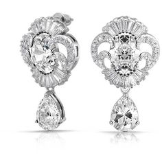 Bling Jewelry CZ Teardrop Vintage Style Bridal Earrings Rhodium Plated Brass * Find out more about the great product at the image link. (This is an affiliate link) Art Deco Earrings, Art Deco Jewelry, Bling Jewelry, Women's Earrings, Teardrop Earrings, Statement Earrings, Vintage Earrings, Cluster Earrings, Jewelry Sets