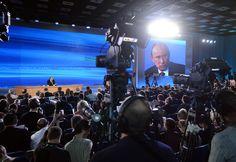 Пресс-конференция Владимира Путина. © Илья Питалев/РИА Новости