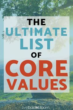 Get the ultimate core values list here. This resource of personal words can help you define and live by your core values. Self Development, Personal Development, Positive Mindset, Positive Motivation, Success Mindset, Quotes Positive, Life Purpose, List Of Values, Personal Values List
