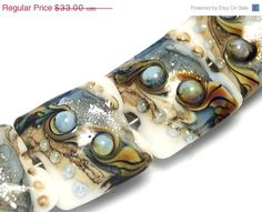 ON SALE 35 OFF Glass Lampwork Bead Set  Four Sweet by gracebeads, $21.45