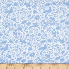 Michael Miller Sommer Double Gauze Shadow Garden Blue from @fabricdotcom  Designed by Sarah Jane for Michael Miller Fabrics, this ultra soft double gauze fabric is perfect for making popular swaddling blankets, bibs, burp cloths, bedding and baby accessories. This double gauze consists of two layers of gauze tacked together. It has an incredibly soft hand and nice drape. Colors include blue and white.