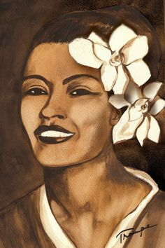 Billie Holiday Watercolor Original by ConnieTroupeDesign on Etsy, $15.00
