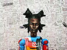 JeanMichel Basquiat Art Doll  Sculpture  Articulated by ArtDuritos, $138.00