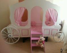 Girls Princess carriage bed