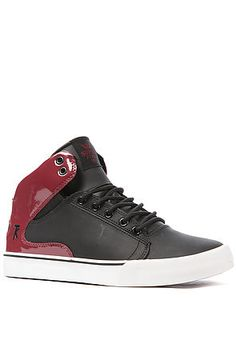 4ef7bb81ee95 The Society Mid Sneaker in Black and Burgundy