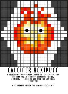 Ravelry: Calcifer Hexipuff pattern by Louise Lavender