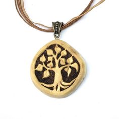 Tree Of Life pendant - Hand carved Tree Of Life pendant made of a gorgeous piece of pine wood! Isn't it pretty? #handmade #treeoflife #giftforher