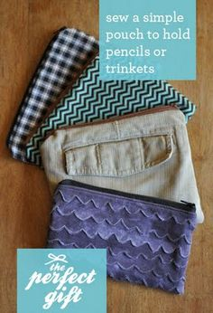 Super Easy Tutorial for a Zippered Pouch - easy instructions