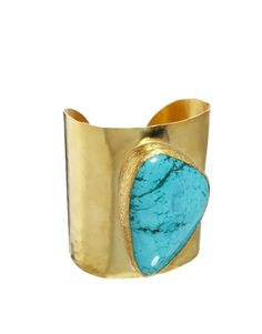 Ottoman Hands Statement Stone Cuff #turquoise