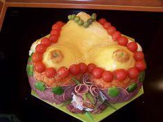Sandwich Cake, Sandwiches, Cheese Display, Pavlova, Food Art, Fruit, Desserts, Savory Snacks, Vegetable Recipes
