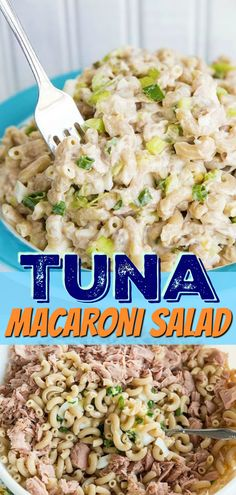 Retro Tuna Macaroni Salad just like mom used to make, fast , easy and delicious! My secret is to add pickles to give it a great tangy taste! #tuna #fish #seafood #salad #macaroni #pasta #picnic #wholewheat #healthy #pickles #celery #pastasalad Tuna Noodle Salads, Tuna Fish Salad, Tuna Macaroni Salad, Tuna Pasta, Macaroni Pasta, Tortellini Pasta, Pasta Salad, Tuna Salad Recipe With Noodles, Simple Macaroni Salad