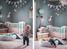 kids room.. Nursery Wallpaper, Nursery Wall Decals, Baby Bedroom, Girls Bedroom, Vintage Nursery Boy, Wool Baby Blanket, Creative Kids Rooms, Nursery Inspiration, Kid Spaces