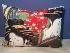 Brunschwig Et Fils Geisha Chinoiserie Toile Raw Cream Silk Pillow | eBay