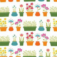 Michael Miller Fabric Flower Shop in Multi