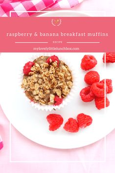 raspberry and banana breakfast muffins - my lovely little lunch box Almond Recipes, Gluten Free Recipes, Banana Breakfast Muffins, Little Lunch, Bean Paste, Crumble Topping, Lunchbox Ideas, Coconut Sugar, Raspberry