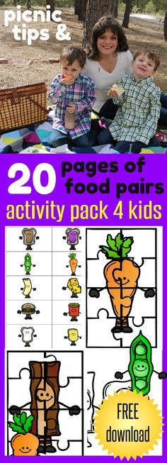 Picnic Tips and FREE printable 20 Pages of food pairs activity pack for kids - fun for the whole family from HappyandBlessedHome.com Plus $1,000 Walmart Gift Card Giveaway from Scotts® who wants to #LoveYourLawn all season long! Ad Let's have fun outside this summer!