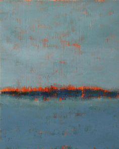 ^ Mattie Iverson | Cold wax painting