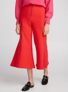 Flared vermillion gaucho pant | Icône | Shop Women's Work Pants| Simons