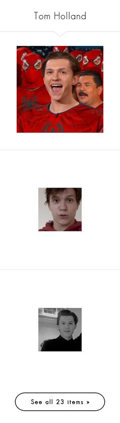 """""""Tom Holland"""" by lsdlovelies ❤ liked on Polyvore"""