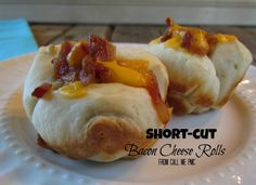Short-cut Bacon Cheese Rolls from Calll Me PMc