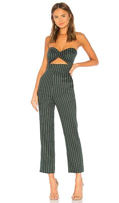273bc80887a Privacy Please Lauren Jumpsuit in Forest Green