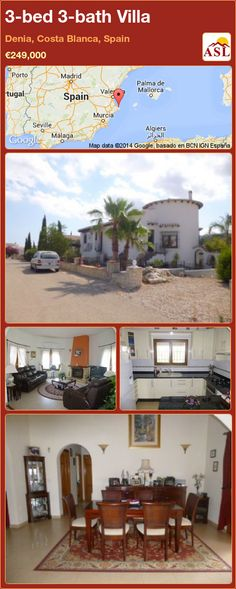 3-bed 3-bath Villa in Denia, Costa Blanca, Spain ►€249,000 #PropertyForSaleInSpain