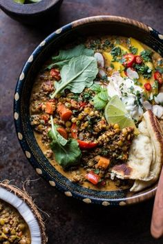 Simple Coconut Quinoa and Lentil Curry recipe vegan and vegetarian healthy recipe Healthy Recipes, Veggie Recipes, Indian Food Recipes, Whole Food Recipes, Vegetarian Recipes, Dinner Recipes, Cooking Recipes, Mango Recipes, Food52 Recipes