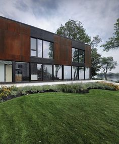 Modern update of historical stone house in Quebec