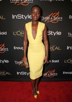 The time she wore the deepest deep-V ever. | 22 Times Lupita Nyong'o Proved She's A Flawless Fashion Genius