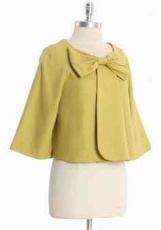 jacklyn lime bow jacket... in a different color for you @Erica Cerulo Cerulo Cerulo salinas