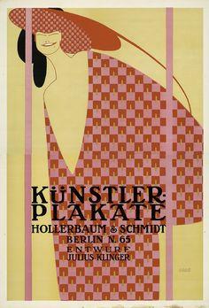 Julius Klinger Artist Poster, for Hollerbaum & Schmidt Entwurf print company, 1900