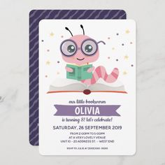 Book Birthday Parties, 9th Birthday, Birthday Party Invitations, Birthday Book, Birthday Ideas, Card Book, Library Card, Lets Celebrate, Childrens Party