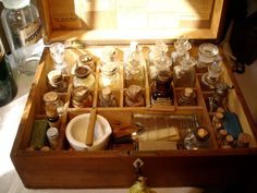 1889 Walnut Apothecary Case made by C.H. Sawyer by StonehillDesign, $1350.00