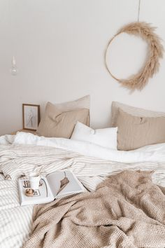 Linen bedding has a way of transforming a bedroom into a space of serenity. Discover our collections of linen bedding in various colors: soft earthy t Earthy Bedroom, Natural Bedroom, Natural Home Decor, Serene Bedroom, Natural Bedding, Fall Home Decor, Cheap Home Decor, Room Decor Bedroom, Home Bedroom