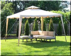 Gazebo Canopy 10x10 Tent Outdoor Patio Backyard Shelter Steel Rectangle Durable  | eBay