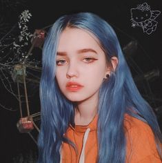 Image may contain: 1 person - To Beauty Aesthetic Makeup, Aesthetic Girl, Blue Hair Aesthetic, Hair Colorful, Makeup Tumblr, Dye My Hair, Grunge Hair, Tumblr Girls, Ulzzang Girl
