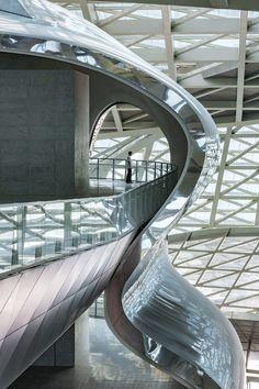 Museum of Contemporary Art & Planning Exhibition (MOCAPE) - Coop Himmelb(l)au Museum Of Contemporary Art, Contemporary Architecture, Architecture Design, Archi Design, Himmelblau, Gallery, Building, China, Art Museum