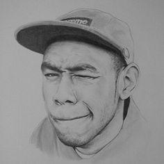 Tyler the creator pencil drawing