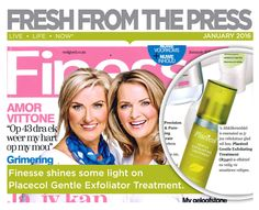 Fresh from the Press- Finesse shines some light on Placecol Gentle Exfoliator Treatment. Live Life, Fresh, Quote Life